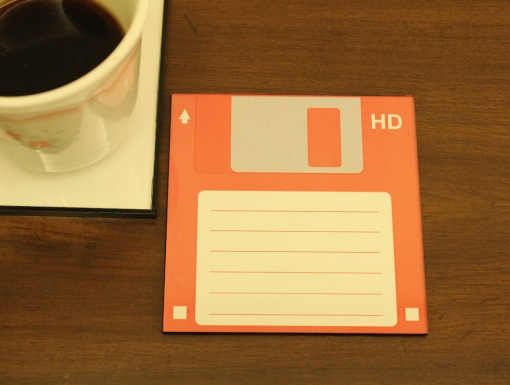 Coaster | Re-Writable | Red Floppy Disc-1