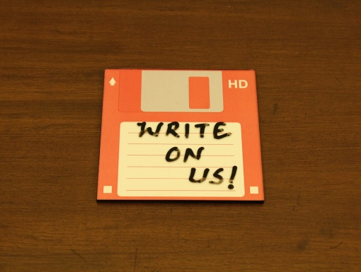 Coaster | Re-Writable | Red Floppy Disc-2