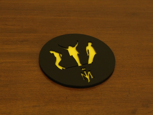 Coaster | Black & Yellow | Mj