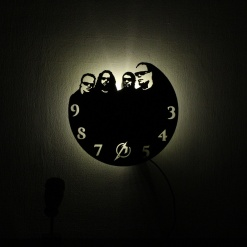 Wall Light Come Wall Clock | Metal Head 2