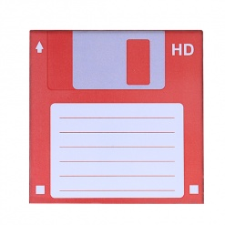 Coaster | Re-Writable | Red Floppy Disc-3