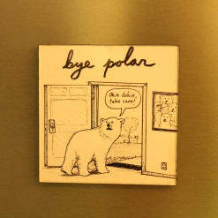 Fridge Magnet Re-Writable | Bye Polar 3