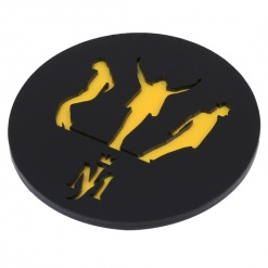 Coaster | Black & Yellow | Mj-1