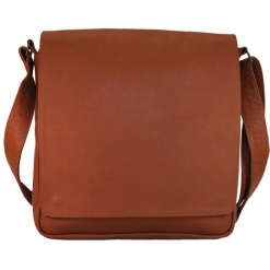 LEATHER BAG TAN CLASSIC MESSENGER SLING1