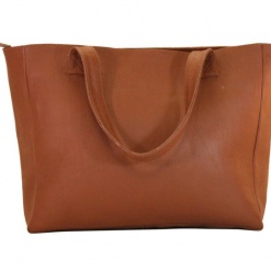 Leather Bag Brown Tote1