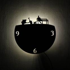 Wall Light Come Wall Clock Bliss1