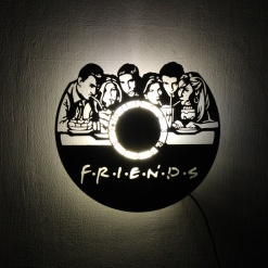 Wall Light Come Wall Clock Friends (1)