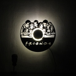 Wall Light Come Wall Clock Friends (2)