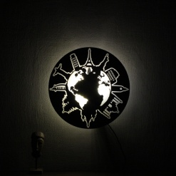 Wall Light Come Wall Clock Travel 25