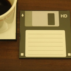 Coaster | Re-Writable | Black Floppy Disc