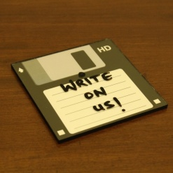 Coaster | Re-Writable | Black Floppy Disc-1