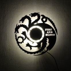 Wall Light Come Wall Clock | Dragon