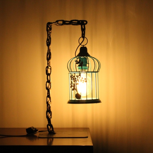 Lamp In Metal | Bird Cage Chain 1