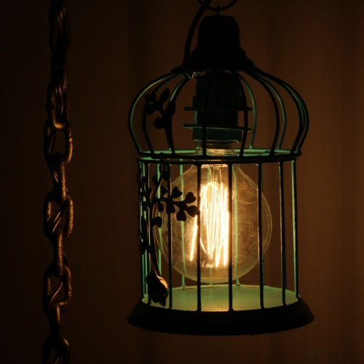 Lamp In Metal | Bird Cage Chain 3