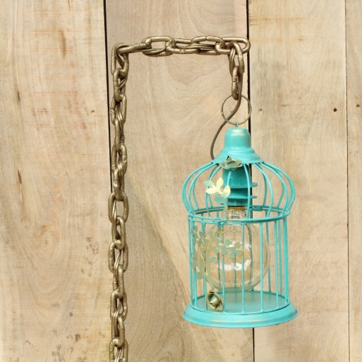 Lamp In Metal | Bird Cage Chain 6