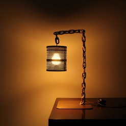 Lamp In Metal | Chain Stand 2