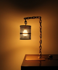 Lamp In Metal   Chain Stand 2