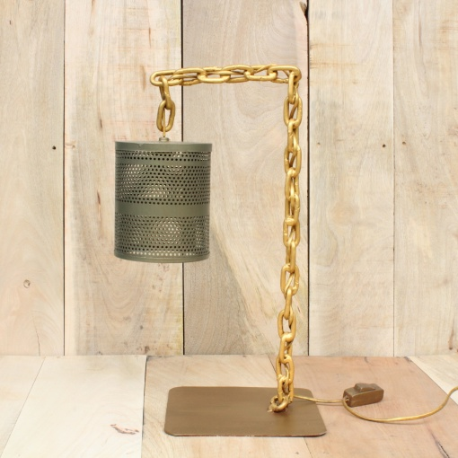Lamp In Metal | Chain Stand 4