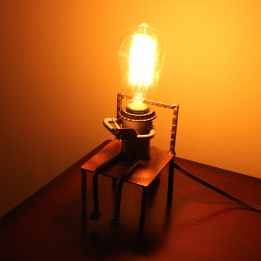 Lamp In Metal | I Love Reading 1