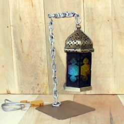 Lamp In Metal   Moroccan Chain 3