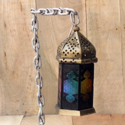 Lamp In Metal   Moroccan Chain 4
