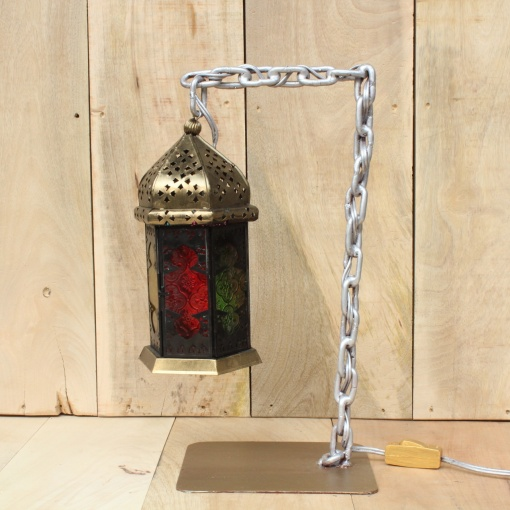 Lamp In Metal   Moroccan Chain 5