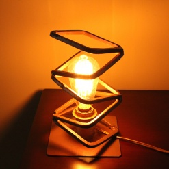 Lamp In Metal | Squared Zig Zag 2