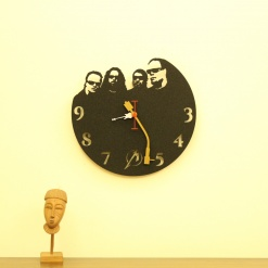 Metal Head Wall Clock 1