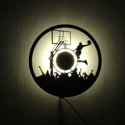 Wall Light Come Wall Clock | Basketball 1