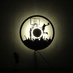 Wall Light Come Wall Clock | Basketball 2