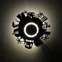 Wall Light Come Wall Clock | Beach City 1
