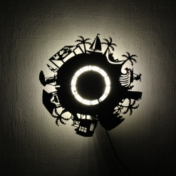Wall Light Come Wall Clock | Beach Life 2