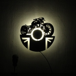 Wall Light Come Wall Clock | Bike 2 1