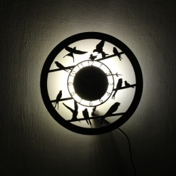 Wall Light Come Wall Clock | Birds 1