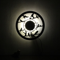 Wall Light Come Wall Clock | Birds 2