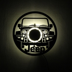 Wall Light Come Wall Clock | Cars 1