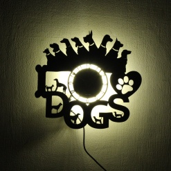 Wall Light Come Wall Clock | Dogs 2 1