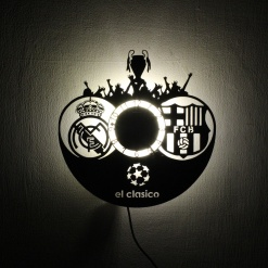 Wall Light Come Wall Clock | Football 1