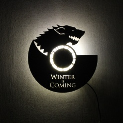 Wall Light Come Wall Clock Wolf 1