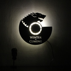 Wall Light Come Wall Clock Wolf 2