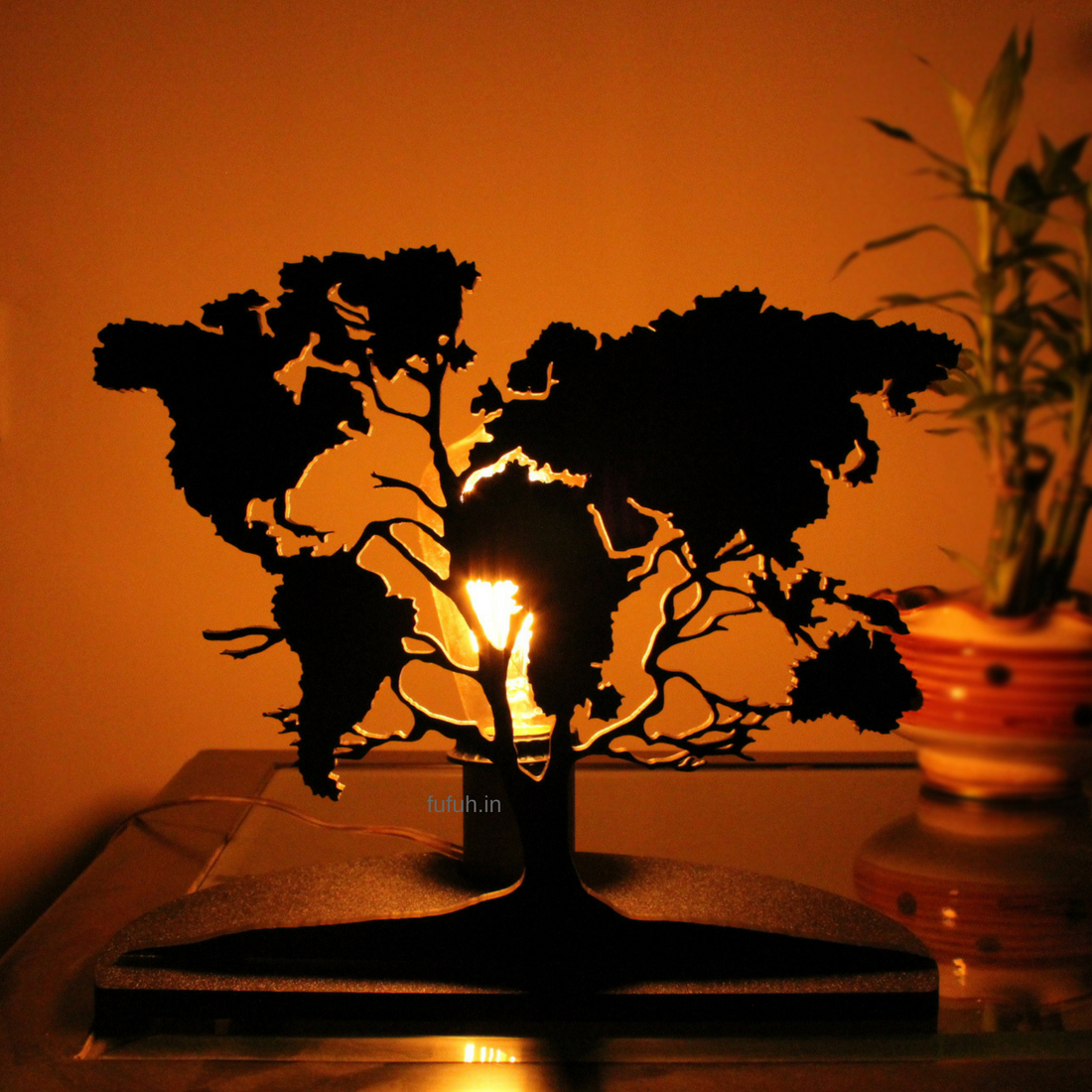 1 DIY Decorative Table Lamp World Tree