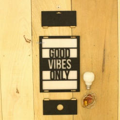 4 DIY Decorative Wall Light Good Vibes Only