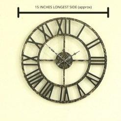 Big Clock Roman 15 INCHES BLACK