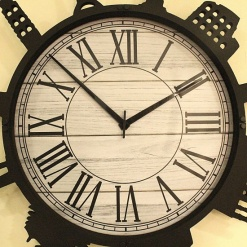 big wall clock travel theme by fufuh