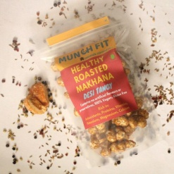 Healthy Roasted Makhana (Fox Nut) Snacks - Desi Tangy
