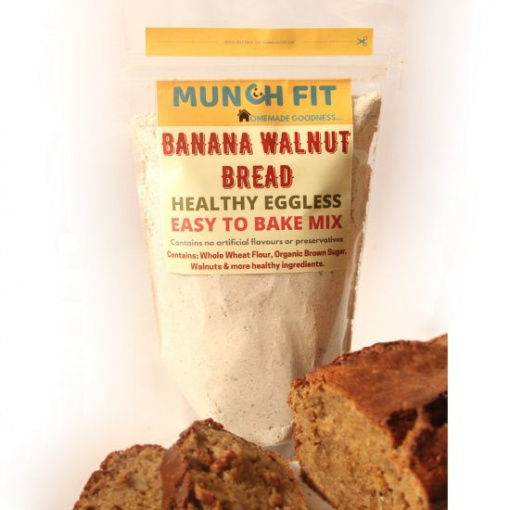 Bake Mix Banana Walnut Bread, Eggless